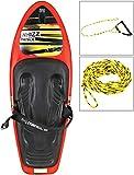 MESLE Kneeboard Package Whizz Hook mit Leine Hook Up, Anfänger Knie-Board mit Hantel-Haken, bis 110 kg, rot-schwarz
