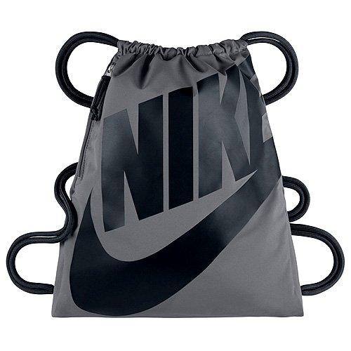 Nike Herren Heritage Gymsack Fußball-Beutel, Grau/Schwarz, One Size
