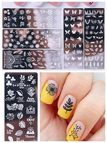 Gotone 12 Piezas Placas Para Uñasplantillas De Uñas Nail Art Stamping Plantillas Uñas Decoracion Arte De Uñas Diy Del Clavo Del Sello Placas