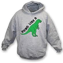 Colgado como una sudadera con capucha del dinosaurio Xx-Grande, coloree el gris