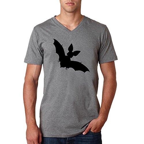 Bat shadow logo Herren baumvolle V-neck t-shirt Grau
