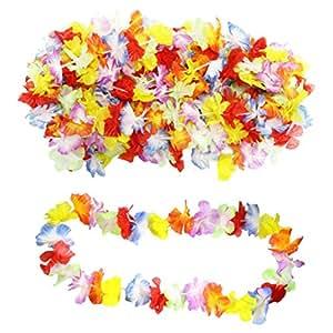 50 x Ghirlanda Hawaiana Lei Collana Hula Leis Fiori di KurtzyTM