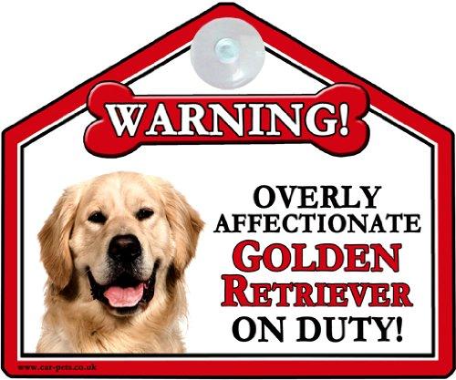 GOLDEN RETRIEVER DOG Car, Caravan or House Window sign - Ansaugen-Zeichen Für Ihre Autofensterfensterscheiben, Haus oder Wohnwagen-Fensterscheiben