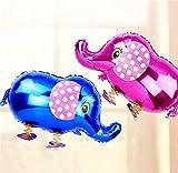 Zonster Cappello del Fumetto 5pcs della Miscela di Colore Sveglio degli Animali del Fumetto Pet Walking Elephant Foglio di Alluminio Palloncino Gonfiabile Air Balloons Birthday Party Decoration