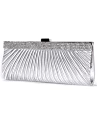 Sac a Main Epaule Pochette Bourse Chaine Strass Crystal Soiree Mariage Femme