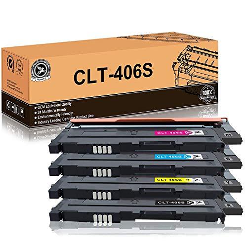 fituwork clt-406s(clt-k406s clt-c406s clt-m406s clt-y406s)compatibile colori toner sostituzione per samsung clx-3300 clx-3305 clx-3305w clx-3305n clx-3305fw clx-3305fn clp-360 clp-365(4packs)