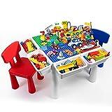 Xiao Jian- Blocco di Costruzione - Giocattoli per Bambini assemblati granuli di Dimensioni in Legno Tavolo 1-2-3-6 Anni di memorizzazione Multi-Funzionale Ragazzo e Ragazza di apprendimento del Gioco