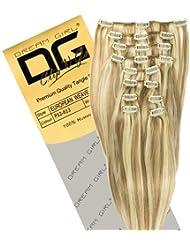 Dream Girl Extensions de cheveux à clipser Couleur 12/613 45cm