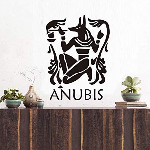 Knncch Anubis Wandaufkleber Ausgangsdekor Diy Der Ägyptische Schakal Tapete Beschützer Wandbild Kunst Wandaufkleber Wohnzimmer Dekoration