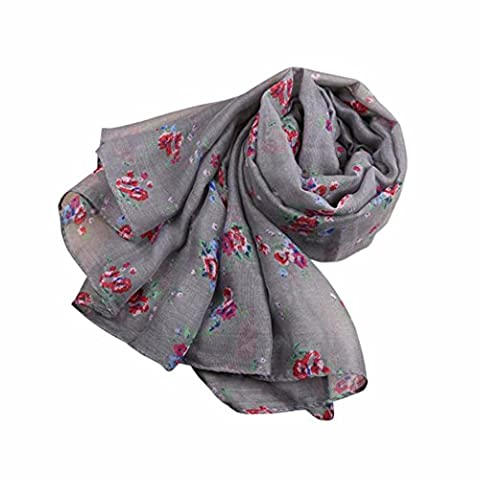 Womens Scarf,Clode® Charming Elegant Women's Lady Long Cute Floral Print Scarf Wraps Shawl Soft Scarves