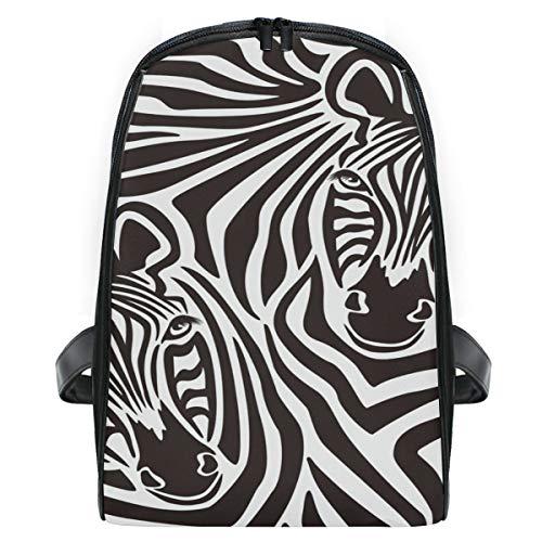 Rucksack für Jungen und Mädchen Zebra Print Abstract Tiermuster Cute Rucksack Bag Outdoor Casual Daypack Twill-zebra-print