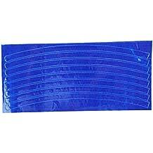 Pegatinas reflectantes - SODIAL(R)Fluorescente de la bici MTB - pegatinas reflectantes de ciclismo 21cm x 0.8cm ¨C azul