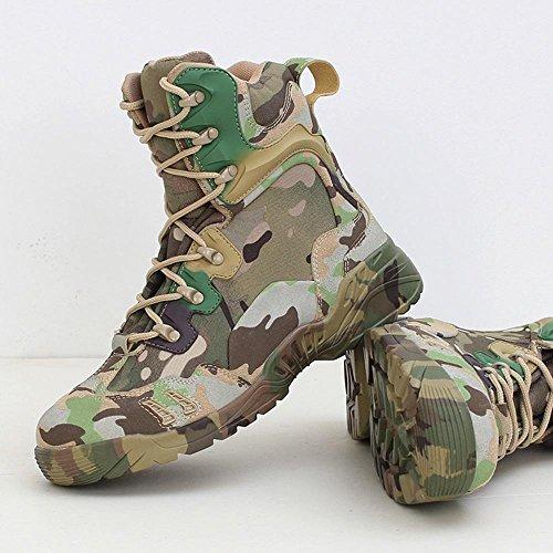 BUSL Schnür-Motorrad-Stiefel der Männer hohe Bein-Wüstenstiefel Jagd-Schuhe. die Schuhe wandern Freizeitschuhe Bergsteigerschuhe . camouflage . 44