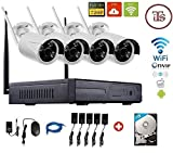 Its Wireless 4Ch WIFI Nvr WIFI 4 Outdoor Camera Kit