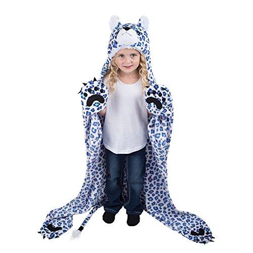 Kapuzendecke, Polyester, schneeleopard, Kinder ()