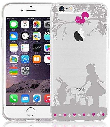 iPhone 6 Hülle, JAMMYLIZARD Transparentes Sketch Back Cover aus Silikon mit Muster für iPhone 6 / 6s 4.7