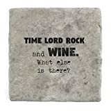 Time Lord Rock und Wein Was ist noch?–Marble Tile Drink Untersetzer