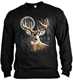 Jäger-Sweater/Sweatshirt Herren mit Hirsch-Druck: Whitetail Wilderness - lässiger Look