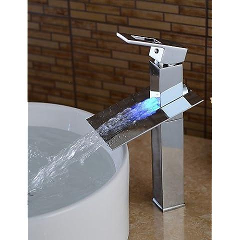 LINA@ Lavabo Single Handle un foro in Bronzo lucidato Lavandino rubinetto del bagno