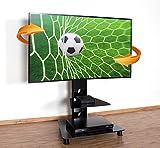 RICOO TV Standfuß Universal Schwenkbar FS707B Curved LCD LED 4K Fernsehständer mit Kabelkanal Fernsehhalterung Stand Ständer Halterung Rack 30