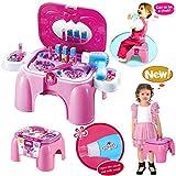HZY Pink Spielzeug Schönheits Set Einem Hocker Carrycase Mit Pretty Zubehör...