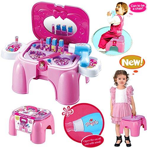 3g-15 Satin (HZY Pink Spielzeug Schönheits Set Einem Hocker Carrycase Mit Pretty Zubehör Geburtstagsgeschenk für Kinder)