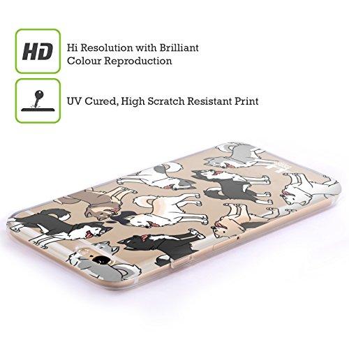 Head Case Designs Bouledogue Français Modèles De Race De Chien Étui Coque en Gel molle pour Apple iPhone 6 Plus / 6s Plus Sibérien Enroué