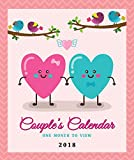 2018 Couples Calendar for 2 people - One Month to View by Arpan (2018 Vintage Birds)