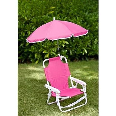 Enfants Parasol Chaise longue de plage enfant Jardin Caravane Camping bleu