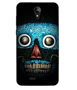 Case Cover Cartoon Printed Blue Soft Back Cover For Swipe Konnect Plus