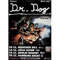 Dr. Dog–2008–Tour poster–WY Oak–in Concert–Fate–Tour (Oak Poster)