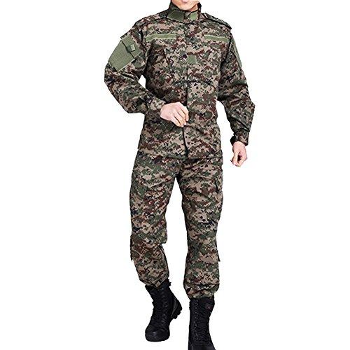 Vividda Herren Mensche Militär Kleidung Paintball Uniform Camouflage Kriegsspiel Kampf Taktisch Armee Uniform M (Militärische Camouflage-uniformen)