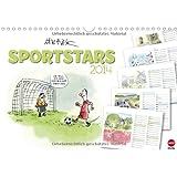 SPORTSTARS - der athletische Planungskalender (Wandkalender 2014 DIN A4 quer): Kräftige Cartoons für ein flottes Jahr! (Monatskalender, 14 Seiten)