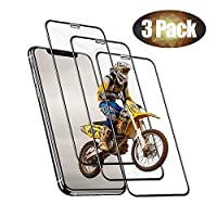 HAUOTCCO Screen Protector for iPhone XS/X [3 Pack] HD Full Coverage 9H Tempered Glass Screen Protector for 5.8 inch iPhone XS/X Face ID Compatible 2.5D Round Edge Anti-fingerprint Bubble Free