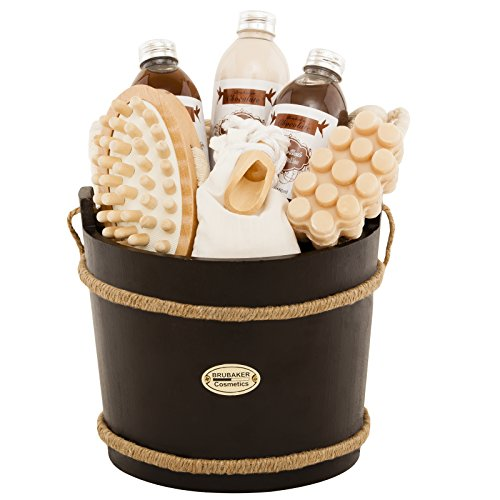 BRUBAKER 9-teiliges Wellness Verwöhn Badeset Geschenkset - Schokolade