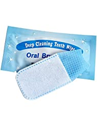 Weisy 50Pcs Finger Brush Up Oral Brush Teeth Whitening Wipe Deep Cleaning Oral Care Teeth Whitener