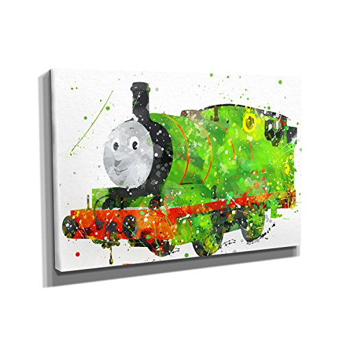 Nerdinger Percy Splash - Kunstdruck auf Leinwand (30x20 cm) zum Verschönern Ihrer Wohnung. Verschiedene Formate auf Echtholzrahmen. Höchste Qualität.