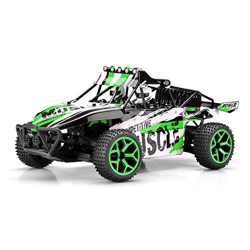 VLOXO Ferngesteuerte Autos, RC Rock Off-Road Fahrzeug 1:18 2,4 GHz 4WD Schnelle Rennautos