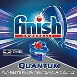 Finish Quantum Spülmaschinentabs, Geschirrspültabs für beste Finish Reinigung und Glanz, Geschirrspülmittel, XXL Pack, 52 Tabs