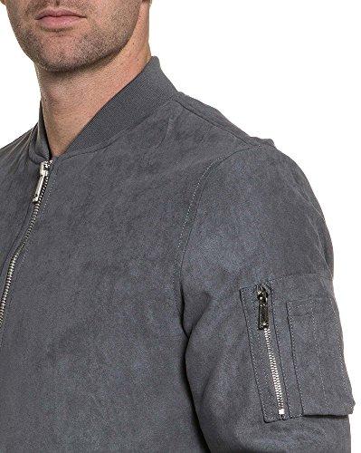 Gov Denim - Man Haut Jacke grau Fischerei Reißverschluss Grau