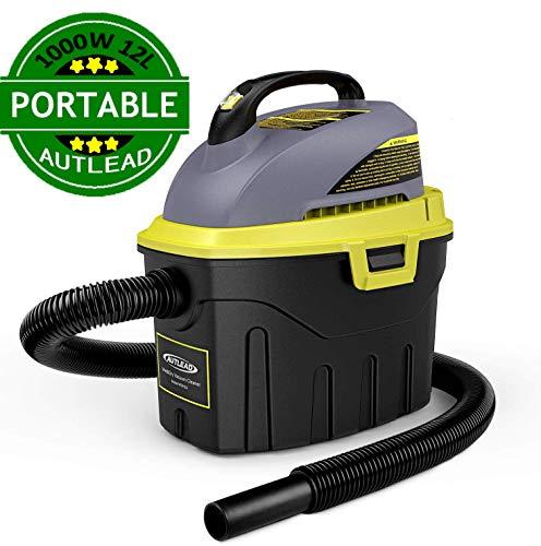 AUTLEAD Aspirador Seco-Húmedo, 1000W 12L Compacto Aspiradora Hogar con 2 boquillas, silenciador, compacta...