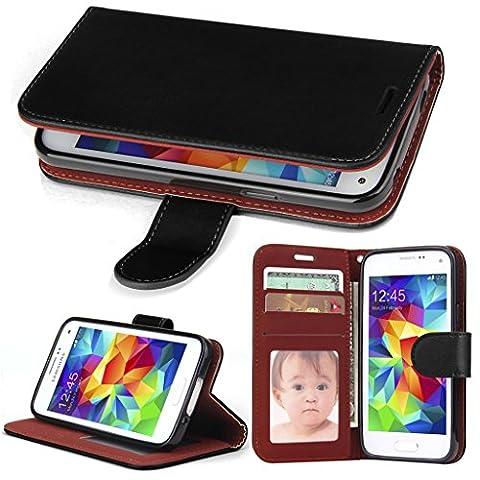 Coque Galaxy S5 Mini Portefeuille,SOWOKO Housse à rabat Cuir Etui avec Fonction Support pour Samsung Galaxy S5 Mini -