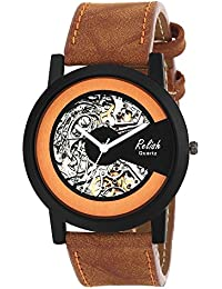 Relish RE-S8115BT Black Slim Analog Watches For Men's And Boy's