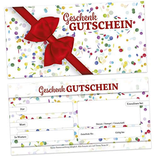 Branchen-shop (50 edle Geschenk Gutscheine für Kunden, beidseitig, für Firmen aller Branchen)