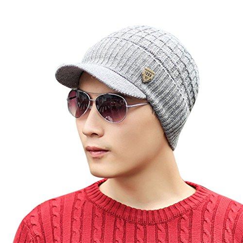 Bluestercool berretto invernale uomo con visiera cappelli uomo cotone eleganti