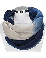 XXL Damen Farbverlauf GLITZER Schal leichter Schlauchschal Viele Farben