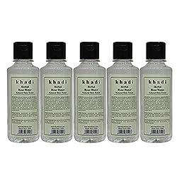 Khadi Herbal Rose Water - 210ml (Set of 5)