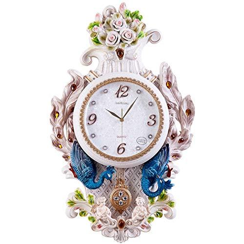 YUNDING Reloj De Pared Creativo, Mudo/Moderno / Estilo Europeo, Estilo Pavo Real, Estilo Pastoral/Retro / Decoraciones/Sala De Estar/Dormitorio / Comedor, Reloj De Péndulo/Reloj, Regalo