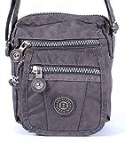 Handtasche / Schultertasche / Umhängetasche klein grau