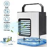 Draagbare mobiele airconditioning, mini-luchtkoeler, 4-in-1 luchtkoeler met handgreep, kantoor, 3 snelheden, desktop, mini-luchtkoeler voor thuis, binnen en in de keuken